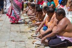 Tarpana Ritual in India Royalty Free Stock Photography
