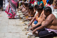Tarpana Ritual in India Royalty Free Stock Image
