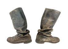 Tarpaulin boots Royalty Free Stock Photography
