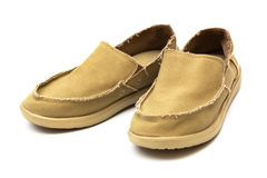 Tarpaulin new moccasins Royalty Free Stock Image