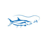 Tarpon fish and lure vector design Royalty Free Stock Photos