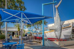 TARPON SPRINGS, FLORIDA - JUNE 30, 2019: Sponge capital of the world and historic Greek town on the Gulf of Mexico royalty free stock photos
