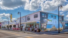TARPON SPRINGS, FLORIDA - JUNE 30, 2019: Sponge capital of the world and historic Greek town on the Gulf of Mexico stock images