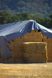 Tarps over Hay Royalty Free Stock Images
