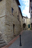 Tarquinia alley. Tarquinia viterbo italy Tarquinia alley The town of Tarquinia, the center of Southern Etruria, an Etruscan capital, a medieval town, an stock photos
