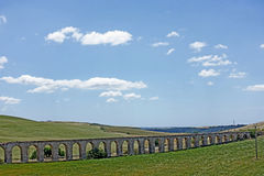 Tarquinia aqueduct. Tarquinia viterbo italy Eighteenth-century aqueduct, built in Roman style, which departs from the hill of Monterozzi to Tarquinia, there are royalty free stock photo
