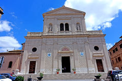 Tarquinia cathedral. Tarquinia viterbo italy Tarquinia cathedral The town of Tarquinia, the center of Southern Etruria, an Etruscan capital, a medieval town, an royalty free stock images
