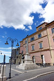 Tarquinia Cavour square. Tarquinia viterbo italy The town of Tarquinia, the center of Southern Etruria, an Etruscan capital, a medieval town, an archaeological stock photo