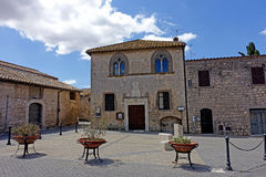 Tarquinia The marini square. Tarquinia viterbo italy Tarquinia The marini square The town of Tarquinia, the center of Southern Etruria, an Etruscan capital, a stock images