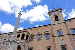 Tarquinia municipal building. Tarquinia viterbo italy Tarquinia municipal building The town of Tarquinia, the center of Southern Etruria, an Etruscan capital, a stock photography