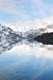 Tarr Inlet. Approaching Lamplugh Glacier, Glacier Bay National Park, Alaska stock photo
