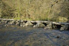 Tarr-Schritte u. Fluss Barle Lizenzfreie Stockfotografie
