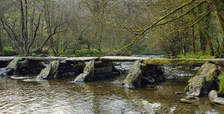 Tarr Steps & River Barle Royalty Free Stock Photos