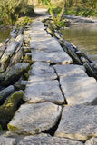 Tarr Steps & River Barle Royalty Free Stock Photography