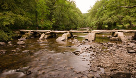 Tarr Steps Exmoor Stock Photo