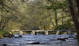 Tarr Steps & River Barle Stock Photography
