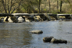 Tarr Steps & River Barle Stock Image