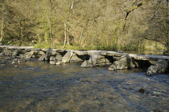 Tarr Steps & River Barle Royalty Free Stock Photography