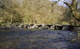 Tarr Steps & River Barle Stock Images