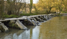 Tarr Steps & River Barle Royalty Free Stock Photo