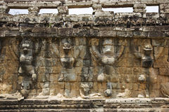 Tarrace of Leper King in Angkor Stock Photos