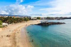 Tarrafal beach in Santiago island in Cape Verde - Cabo Verde Stock Photography