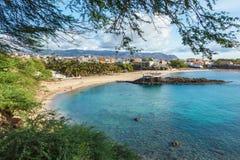 Tarrafal beach in Santiago island in Cape Verde - Cabo Verde Royalty Free Stock Photos