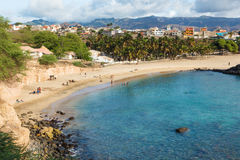 Tarrafal beach in Santiago island in Cape Verde - Cabo Verde Stock Image