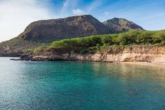 Tarrafal beach in Santiago island in Cape Verde - Cabo Verde Royalty Free Stock Image