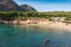 Tarrafal beach in Santiago island in Cape Verde - Cabo Verde Stock Photo