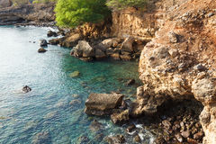 Tarrafal wild coastline in Santiago island in Cape Verde - Cabo Royalty Free Stock Photos