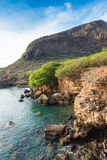Tarrafal wild coastline in Santiago island in Cape Verde - Cabo Stock Images