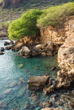 Tarrafal wild coastline in Santiago island in Cape Verde - Cabo Royalty Free Stock Photo