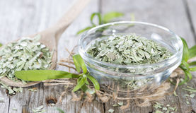 Tarragon (dried). Portion of dried Tarragon (high detail close-up shot royalty free stock image
