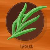 Tarragon flat design vector icon. Royalty Free Stock Photo