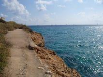 Tarragona ακτή Στοκ εικόνα με δικαίωμα ελεύθερης χρήσης