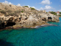 Tarragona απότομοι βράχοι και σπηλιές Στοκ εικόνα με δικαίωμα ελεύθερης χρήσης