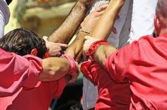 Castells, ανθρώπινοι πύργοι Tarragona, Ισπανία Στοκ φωτογραφίες με δικαίωμα ελεύθερης χρήσης