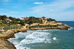 Tarragona. A view of a cove from Tarragona, in Spain stock photo