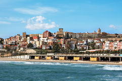 Tarragona. A panoramic view of Tarragona, in Spain stock photography
