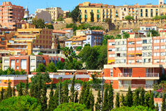 Tarragona. Houses of city of Tarragona, Spain royalty free stock photos