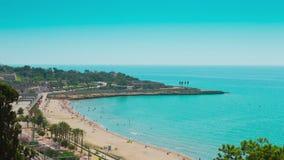 Tarragona beach stock footage