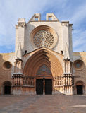 Tarragona Cathedral. One of most famous places of province. Catalonia, Spain stock photo
