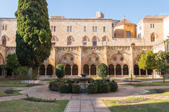 Tarragona cathedral. Interior cloister in the cathedral of Tarragona - Spain stock photos