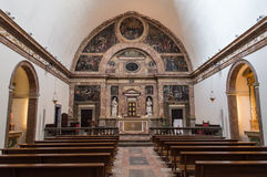 Tarragona cathedral. Interior view of the cathedral of Tarragona - Spain stock image