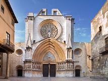 Tarragona Cathedral, Spain. View of the Tarragona Cathedral, Spain Royalty Free Stock Image