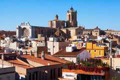 Tarragona with Cathedral in spring day Stock Image