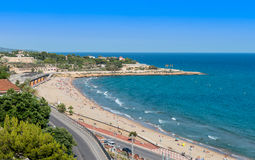 Tarragona Coast looking North Royalty Free Stock Photo