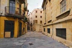 Tarragona gata Arkivbild