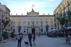 Tarragona gatasikt på Juni 20, 2016 i Tarragona, Spanien Royaltyfri Foto